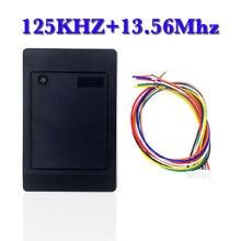 Đầu Đọc Thẻ RFID WG26 Dual Tần Số 125Khz Em Và 13.56 MHz Đầu Đọc Thẻ Wiegand Giao Diện Weigand 26 Thông Minh Gần Độc Giả