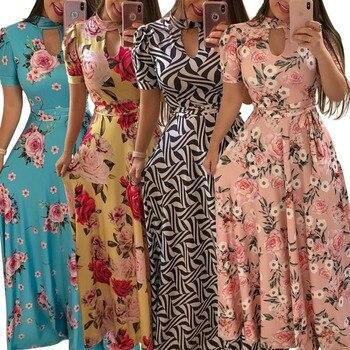 Plus size New style African Women clothing Dashiki fashion Print elastic cloth long dress S M L XL 2XL 3XL 4XL 5XL 7109