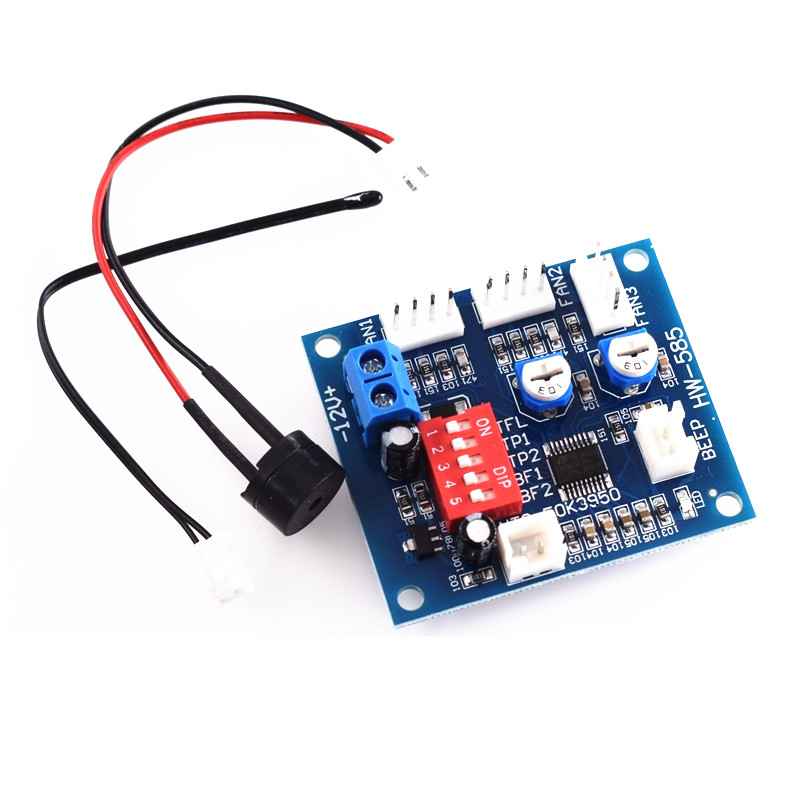 1PCS DC 12V PWM PC CPU Fan Temperature Control Speed Controller Board 5*4.3cm