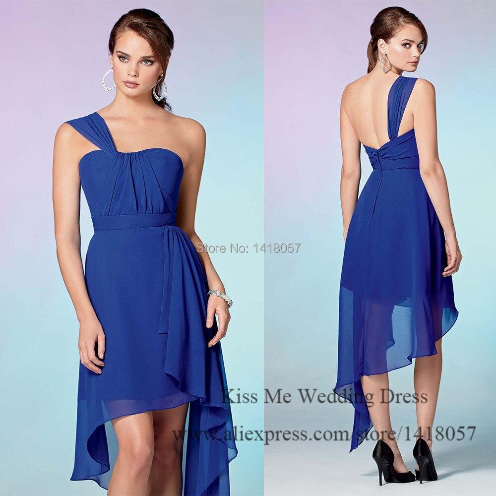 Cheap Unique Royal Blue Bridesmaid Dress 2015 Short