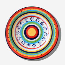 Hand Painted Underglaze Tableware 11.1 Inch Plate Domestic Large Dish Hotel Western-style Food Tray Creative Steak
