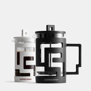Image 2 - Cafetiere ฝรั่งเศสกดเครื่องชงกาแฟ 350ML 800ML เครื่องอัดฉีดเครื่องชงกาแฟหม้อแก้วเกรดอาหารผนังให้ช้อน