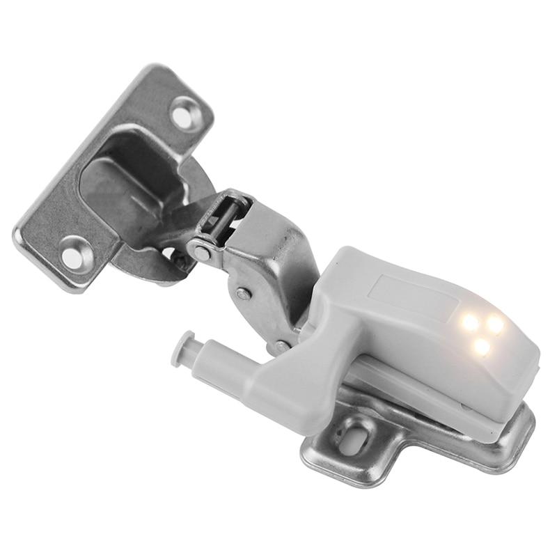 BORUiT 10 шт. Универсальный светодиодный свет под кабинет шкаф внутренняя петля лампа шкаф Сенсор свет дома Кухня ночник