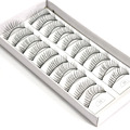 10 Pairs/Set Soft Natural False Eyelashes Makeup Handmade Extension Fake Lashes