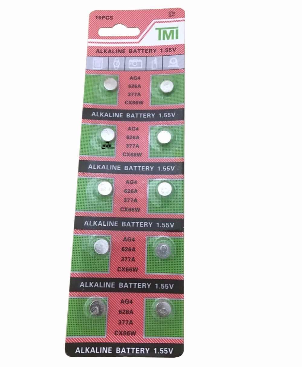 ขายส่ง10ชิ้น/ล็อต= 1บัตรAG4377A 377 LR626 SR626SW SR66 LR66ปุ่มเซลล์นาฬิกาเหรียญแบตเตอรี่, TIANQIUBrandแบตเตอรี่