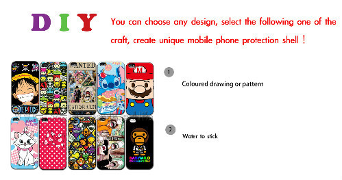 Personalised PHOTO for any Series Phone Case PICTURE LOGO customised ! Coloured Drawing or Pattern MOQ:10PCS