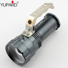 YUPARD XM-L2 LED T6 LED zoomable Flashlight Spotlight Searchlight Torch  bright  For 18650 rechargeable battery free shipping 2300lm searchlight 3 modes handheld xm l t6 zoomable rechargeable led portable spotlight 18650 flashlight torch lamp