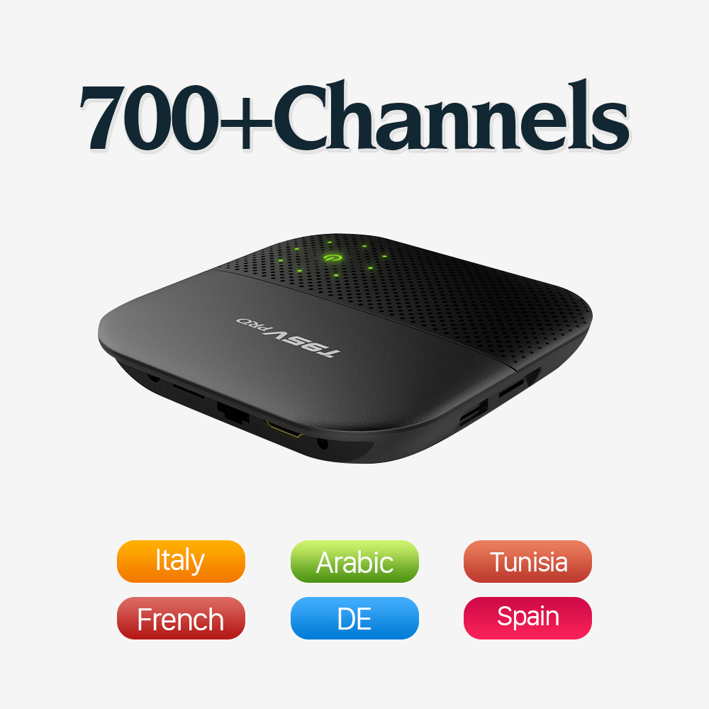 Dalletektv Android 6.0 TV Box S912 Octa Core 4K H.265 2.4/5G WiFi Media Player IPTV Arabic European French Italy IPTV Box медиаплеер merlin 4k android media hub