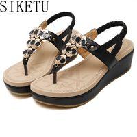 SIKETU 2017 New National Summer Style Sandals Women S Bohemia Diamond Shoes Women Summer Shoes Size