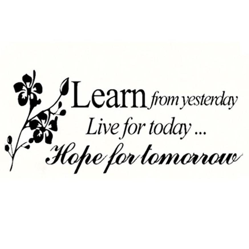 Learn from Yesterday Family Love Art Wall Quotes Stickers words phrase Decals
