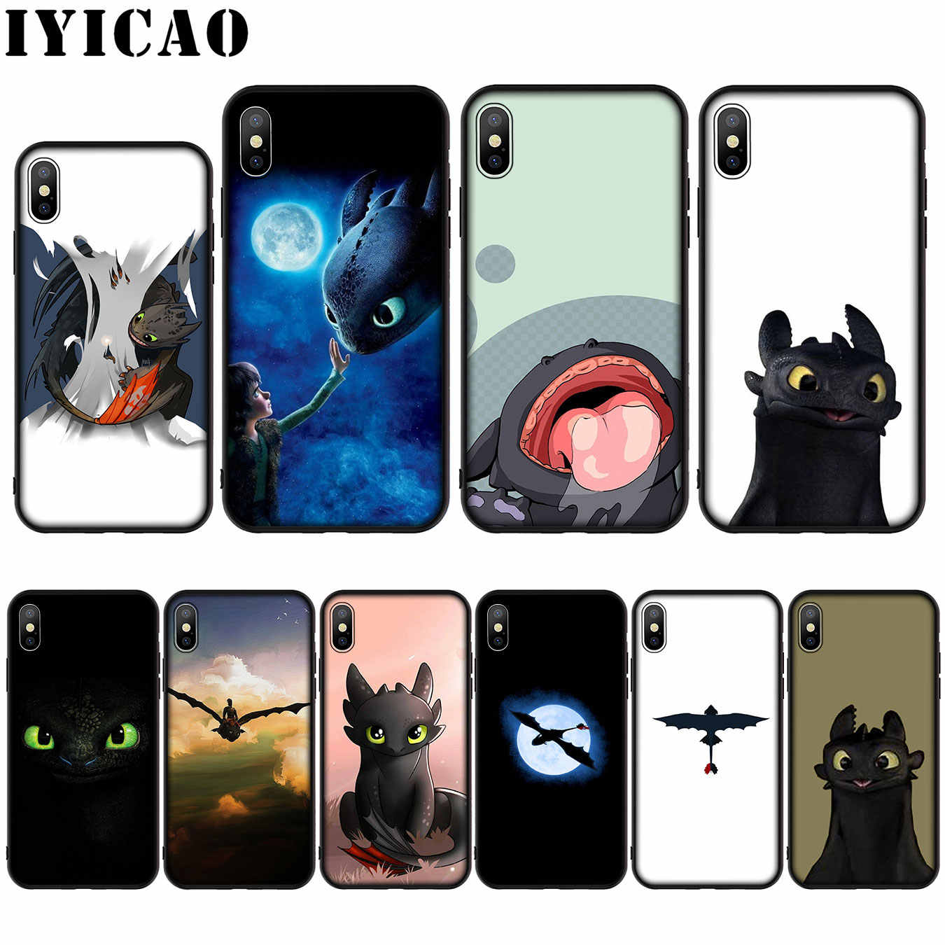 How To Train Your Dragon desdentado Silicone Soft Case para iphone 5 11 Pro Max XR X XS Max 8 7 6 6S Plus 5 5S SE Tampa
