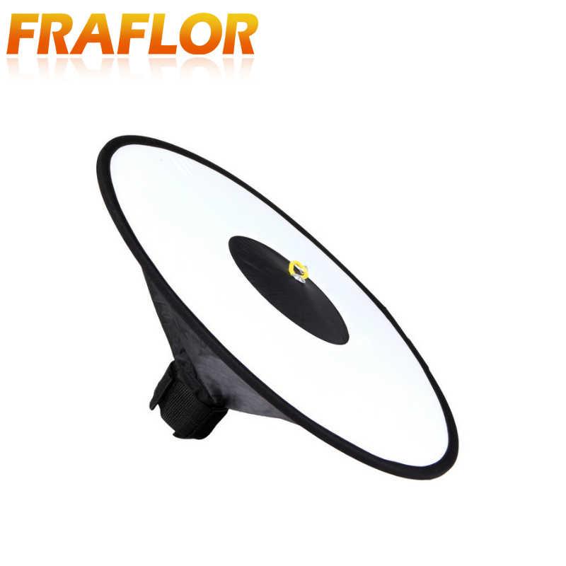 45Cm Thu Gọn Đèn Flash Difuser Vòng Nhẫn Di Động Softbox Đa Năng Chụp Ảnh Cho Máy Ảnh DSLR Speedlite Thon Gọn Vòng Softbox