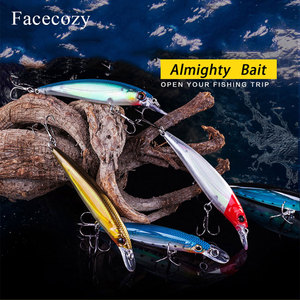 Image 3 - Facecozy 1Pc Luminous Bionic Bait Fishing Lures with Two Eagle Claw Hooks Artificial Bait 8 11CM CrankBait  High Rate Minnow