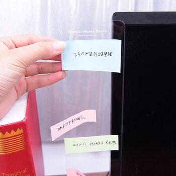 Transparent Adhesive Board Monitor Message Sticker Computer Moniter Side Memo Pad Board Note Board цена 2017