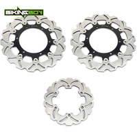 BIKINGBOY For Yamaha 2002 2003 R6 99 00 01 02 Front Rear Brake Discs Disks Rotors Wave Round Replacement 300mm 220mm Motorcycle