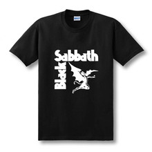 цены на 2019 Summer New Heavy Metal T Shirts Mens Black Sabbath Paranoid Tee Shirts Cotton Top Sleeve TShirt Camiseta Size XS-2XL  в интернет-магазинах