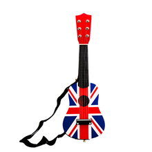 SOACH 21inch wood Bass guitar 6 strings + Black Strap Play paddle Child Guitar Toy ukulele Musical Instrumento acoustic