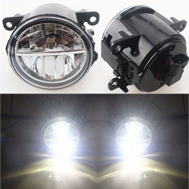 Car Styling 6000K White 10W CCC High Power LED Fog Lamps DRL Lights For NISSAN Navara D40 Note E11 Pathfinder R51 Pixo UA0