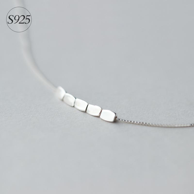 Delikat 925 Sterling Silver Beans Charm Halskjede Kort | Love - Fine smykker - Bilde 4