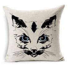 2015 Tiger /cat /Animal Cushion Without Core Custom Cotton Linen Decorative Throw Pillows Sofa Chair Cushions Home Decor 45*45cm