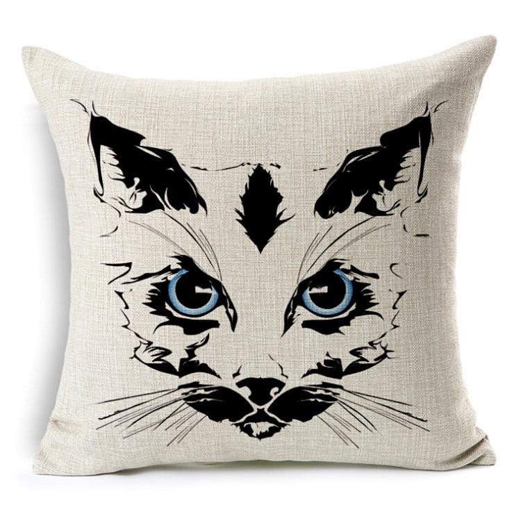 eb6aa9536 2015 Tiger gato Animal Almofada Sem Núcleo Personalizado Cotton Linen Decorativa  Almofadas Sofá Cadeira Almofadas Decoração Da Sua Casa 45 45 cm