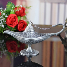 Vintage tea pot home decoration pewter plated craft retro gifts Ala ddin Lamp