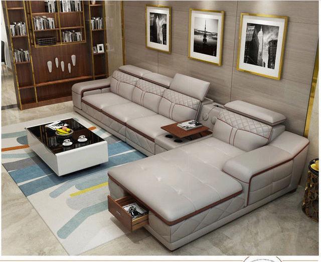 Tan Leather Living Room SofaFurniture Set  3