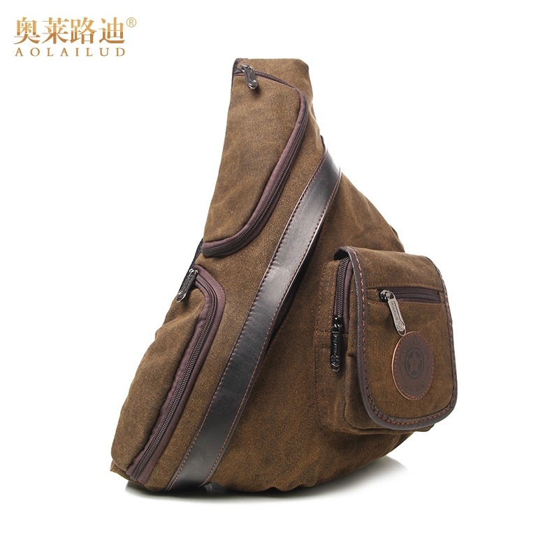 New Fashion vintage Canvas Chest bag men Messenger Bags brand waterproof  crossbody shoulder Bag Travel casual chest pack-in Waist Packs from Luggage    Bags ... cd9b752a67