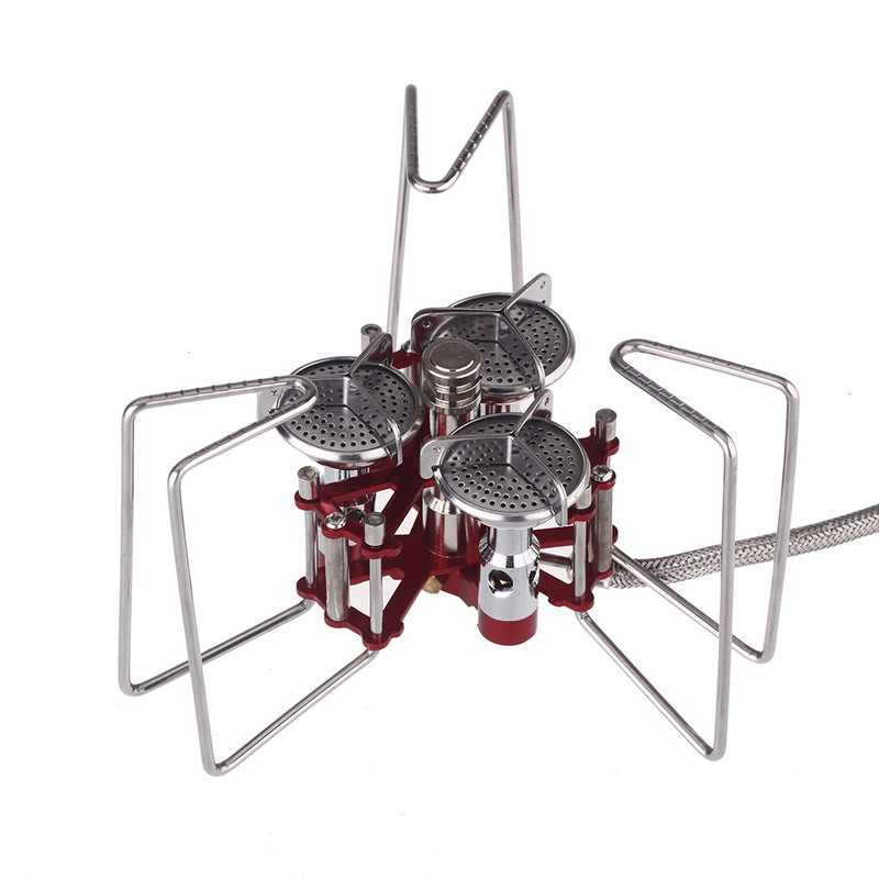 1 Piece Portable BBQ Stove Aluminum 5800W Stove Three Burners Camping Split Gas Stove Outdoor Kitchen Tools VEN15 P40