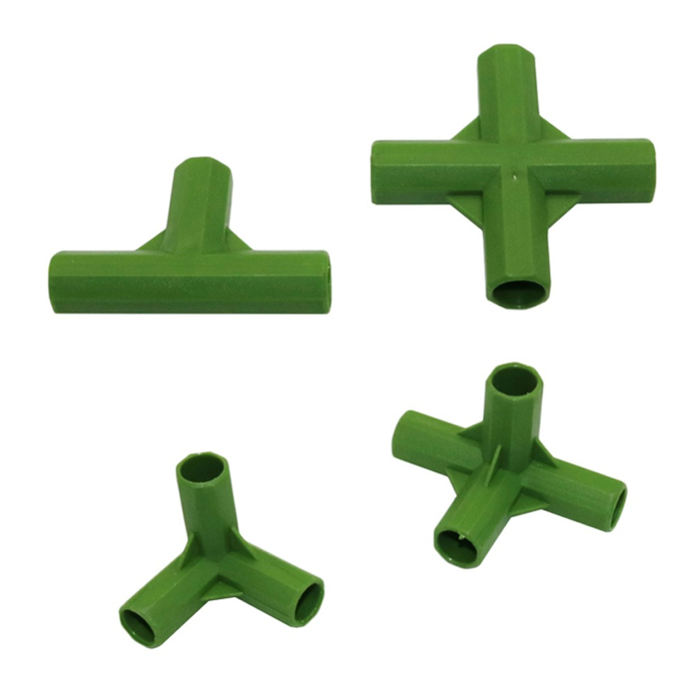 Plant Support Bracket Joint 3-way 4-way Plastic Connector For 11mm Flower Support Stakes Connector 2 Pcs