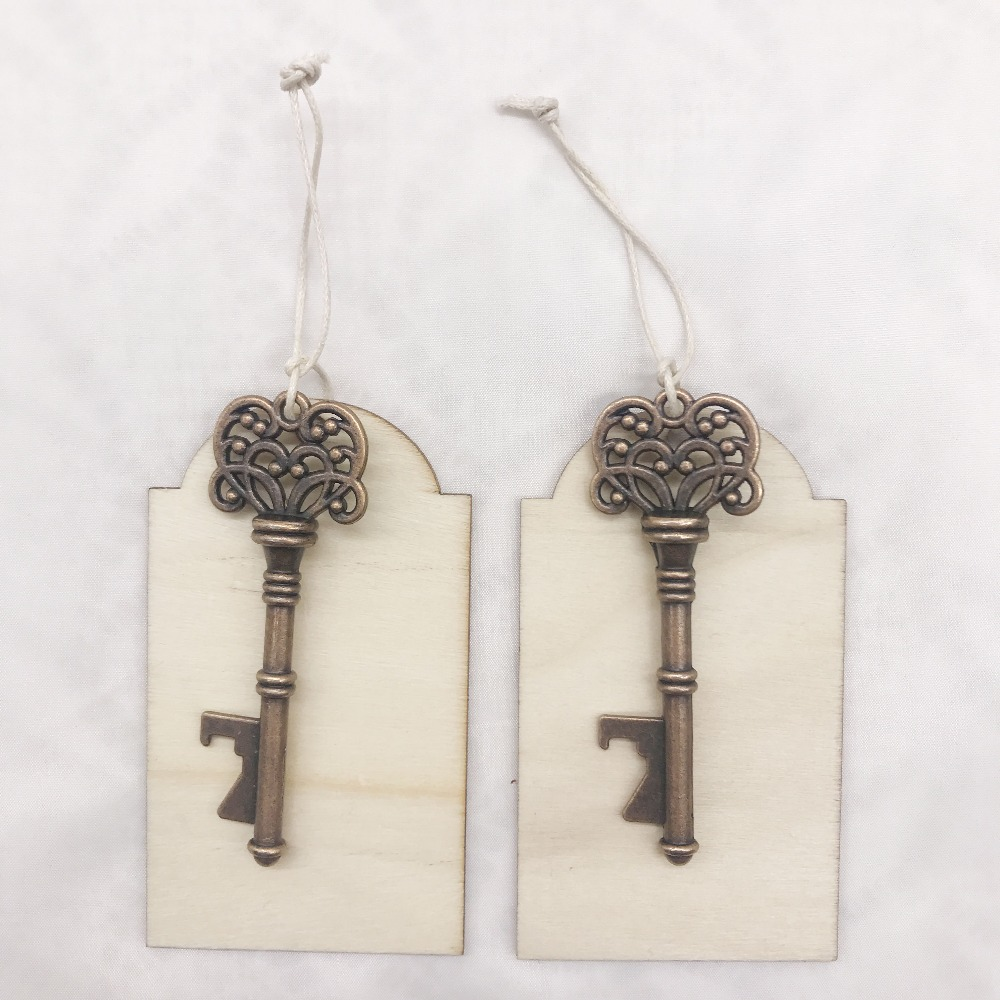 Personalised Engraved Wooden Tag With Skeleton Key Bottle Openers ...