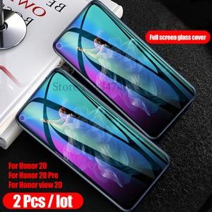 Image 2 - Protector de pantalla de vidrio templado para móvil, película protectora de vidrio para Huawei Honor 30 20 Pro, 2 uds.