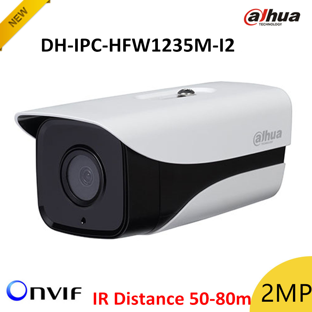 New Dahua DH-IPC-HFW1235M-I2 2mp IP Bullet Camera IR disstance 50-80m H.265 Outdoor camera IP67 Survillance camera ipcam ...