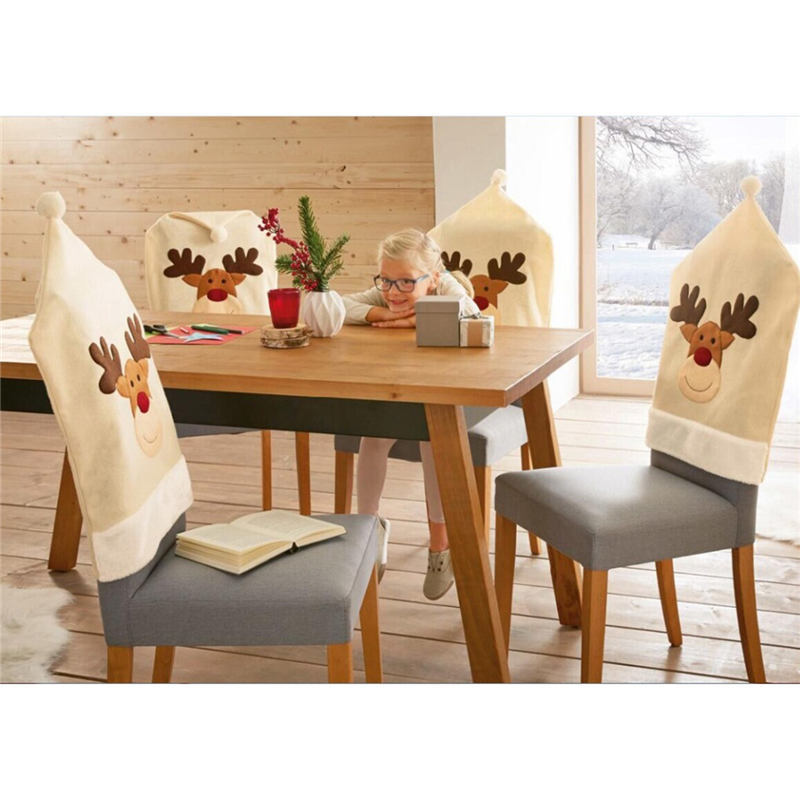 Merry Christmas Spandex Stretch Dining Room Chair Covers Kitchen