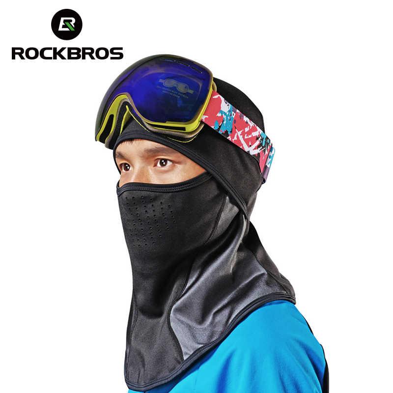 ROCKBROS велосипедная зимняя маска Кепка ветрозащитная термальная Балаклава для нанесения маски на лицо Спорт Лыжный бег велосипед Шея шапка головной шарф для мужчин