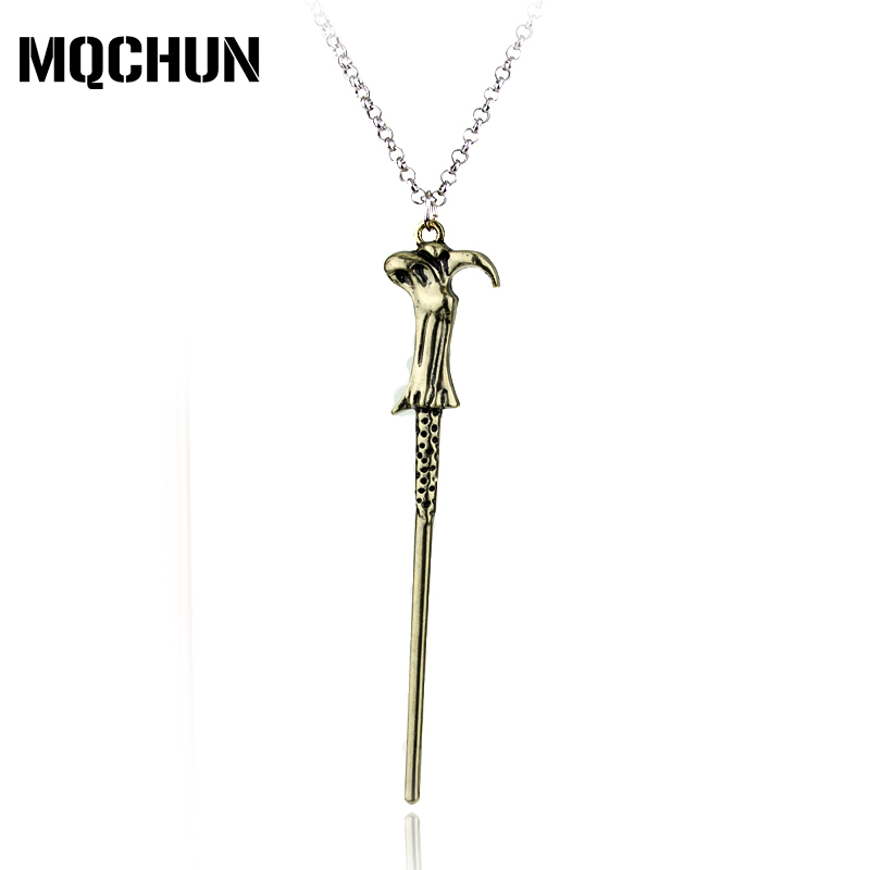 Hot Movie HARRY Dumbledore Hermione Voldemort Magic Wand Pendant Necklace Elder Wand Jewelry Necklace Accessories for Mens-30
