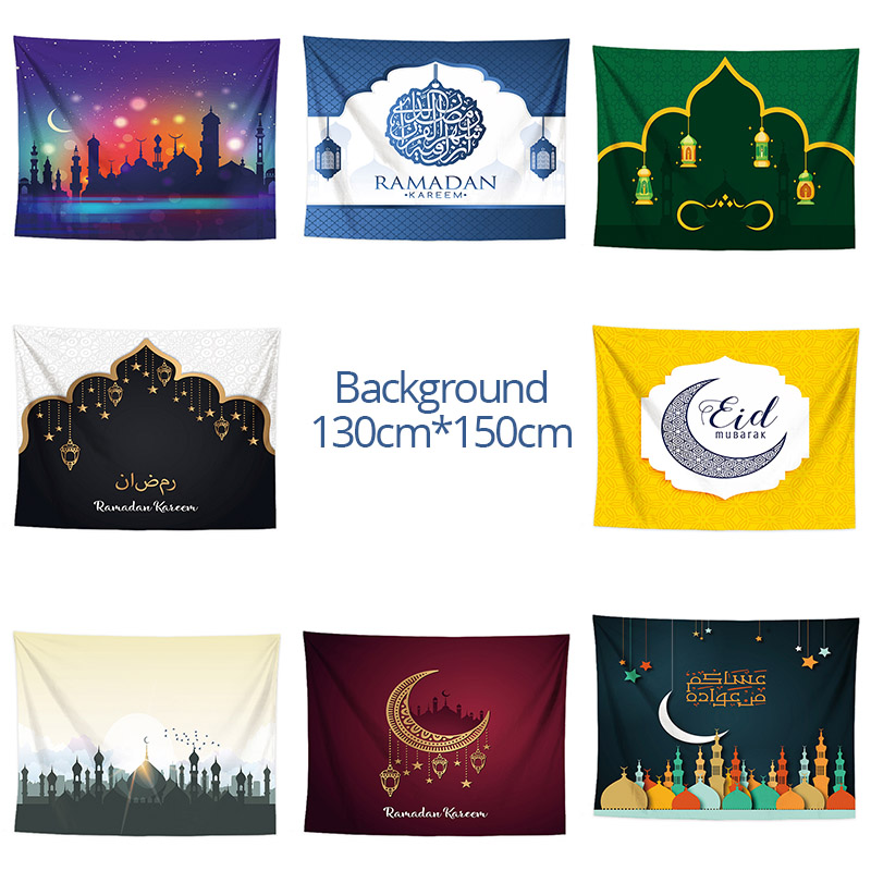 Ramadan Decorations Background Wall Tapestry Hanging Cloth Eid Mubarak Decoration For Home Wall Cover Islamic Muslim Party Ramadan Decorations Background Wall Tapestry Hanging Cloth Eid Mubarak Decoration For Home Wall Cover Islamic Muslim Party