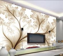 Modern minimalist wallpaper 3d simple flowers custom for walls 3 d photo bedroom