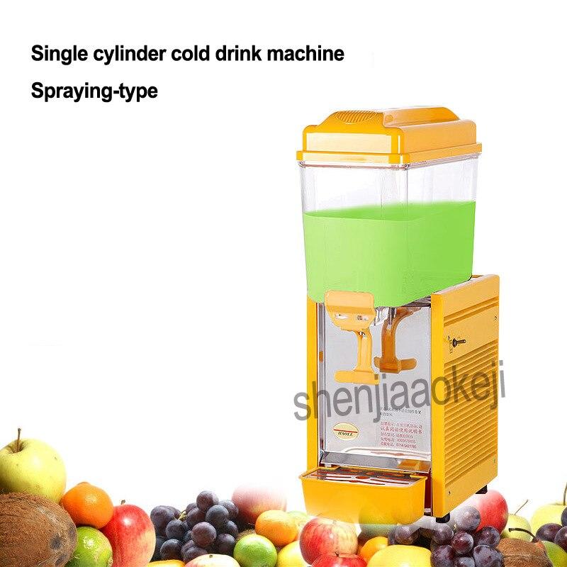 1 pc machine à boisson commerciale type de pulvérisation monocylindre machine à boisson froide en plastique machines à boisson froide 220 v