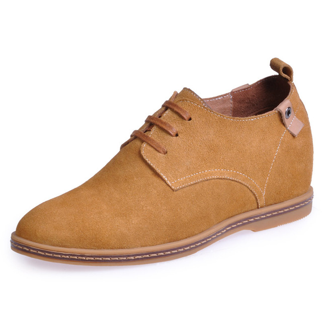 New arrival men's invisible elevator shoes handmade genuine leather