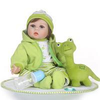 Популярные 55 см для новорожденных, для девочек винил силиконовые куклы дети сопровождать Купание игрушка в подарок