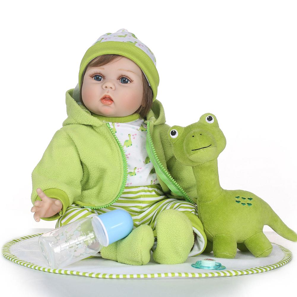 Popular 55cm Reborn Baby Girl Vinyl Silicone Doll Children Accompany Bathing Toy Gift Popular 55cm Reborn Baby Girl Vinyl Silicone Doll Children Accompany Bathing Toy Gift