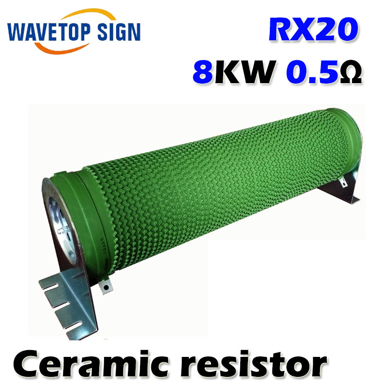 RX20 High Power Ripple Starting Resistive Load Braking Resistor 8KW 0.5R 1R 2R 3R 4R 5R Europe 1 solder lug terminals aluminum encased wired braking resistor 1000w 20ohm