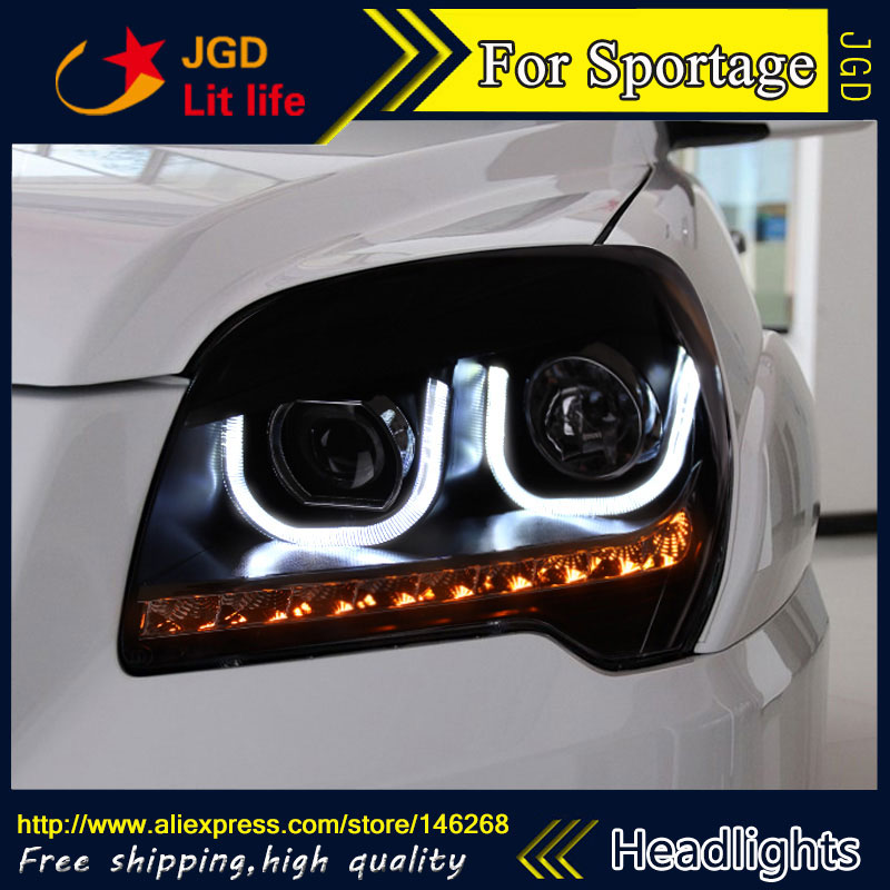 Free shipping ! Car styling LED HID Rio LED headlights Head Lamp case for KIA Sportage 2009-2011 Bi-Xenon Lens low beam akd car styling for kia k2 rio headlights 2011 2014 korea design k2 led headlight led drl bi xenon lens high low beam parking