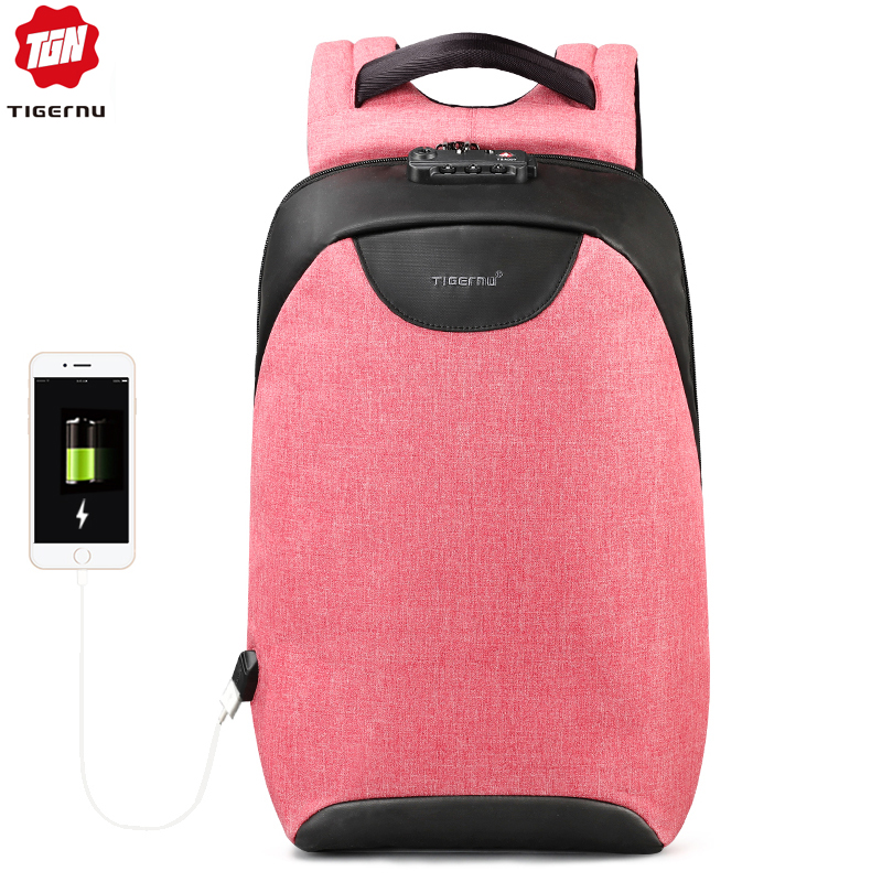 Fashion TSA Lock 15 6 inch Women Anti Theft Travel USB Female Backpacks for Teenagers Waterproof
