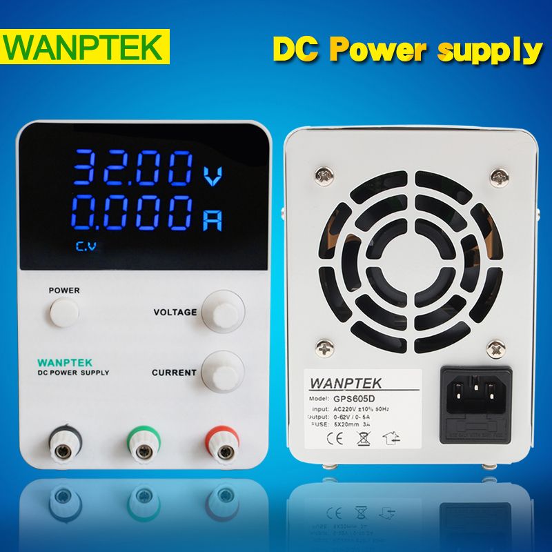 Wanptek GPS605D Switching DC Power Supply 0-60V 0-5A Multi loop potentiometer Adjustable,Lab power supply 0.001A Four display 1200w wanptek kps3040d high precision adjustable display dc power supply 0 30v 0 40a high power switching power supply