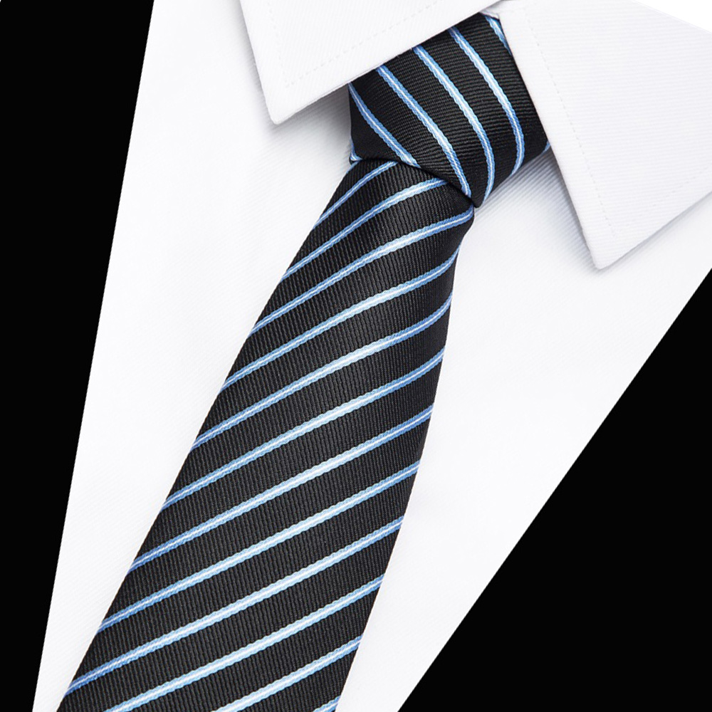 Boys Stripe Slim Tie Skinny Necktie for Boys 3 to 15 Years old
