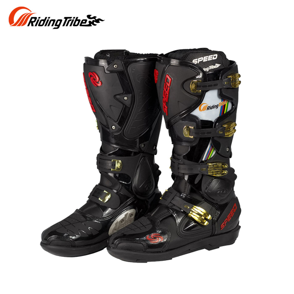 Riding Tribe Motorcycle Boots Leather Speed Motorcycle Long Shoes Off-road Motocross Motorbike Boots Motorcycle Shoes Botas Moto
