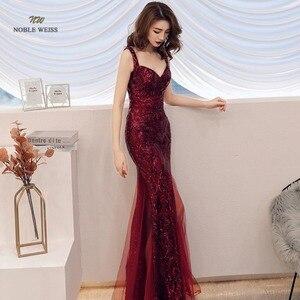 Image 3 - Robe de bal style sirène, en paillettes, sexy, avec fermeture éclair au dos, robes de bal, modèle 2019