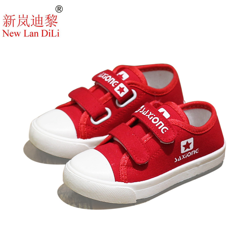 Kids Shoes For Girl Children canvas shoes boys Candy color laces 2018 Spring Autumn white sneakers children single shoes girls ...